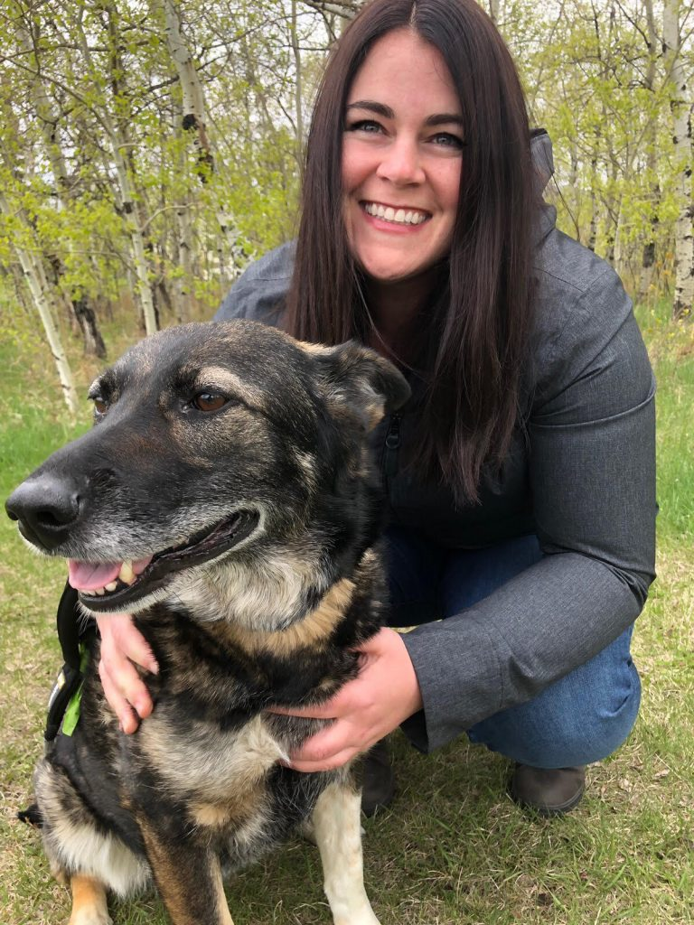 Ms Carruthers with her rescue dog and best friend Willow